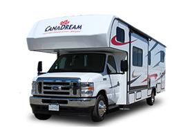 Frontansicht des Canadream Canada MHX-Wohnmobils