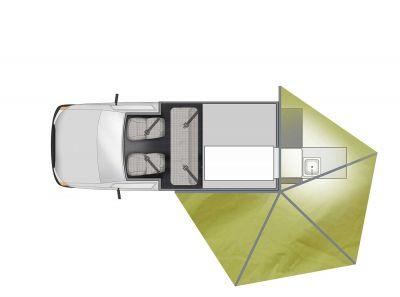 4WD-Camper X-Terrain von Apollo Australien, Grundriss Markise
