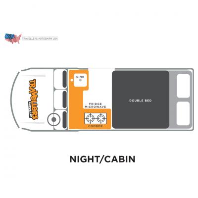 Travellers Autobarn Kuga unteres Bett USA