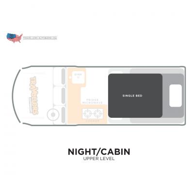Travellers Autobarn Kuga oberes Bett USA