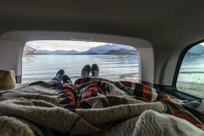 Aussicht vom Bett des Campers Vivid von Apollo Neuseeland