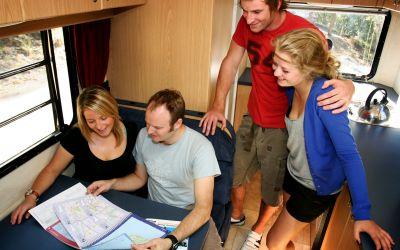 Im 4-Bett Motorhome von Cheapa Campa Australien