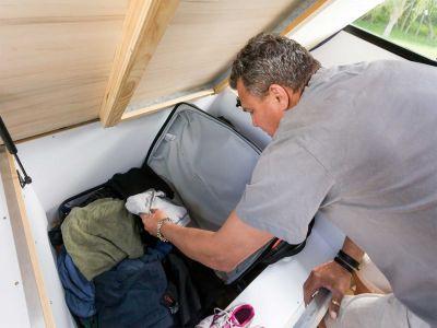 Camper Double Up von Mighty Neuseeland Stauraum