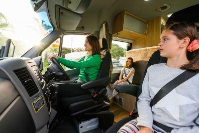 Fahrerkabine im Campervan Venturer Plus von Britz Neuseeland