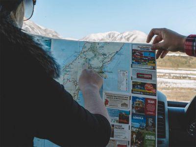 Camper Deuce Plus von Mighty Neuseeland Straßenkarte