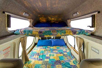 Betten im Camper Endeavour von Hippie Neuseeland