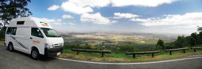 Panorama mit dem Camper Hitop von Apollo Australien