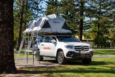 Dachzelte auf dem 4WD-Camper X-Terrain von Apollo Australien