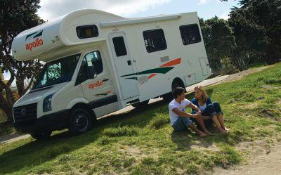 Pause mit dem Euro Camper von Apollo Neuseeland