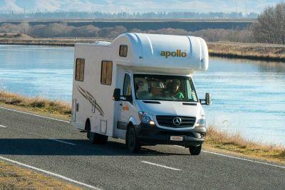Fahrt mit dem Euro Camper von Apollo Neuseeland