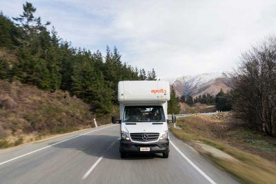 Fahrt im Camper Euro Star von Apollo Neuseeland