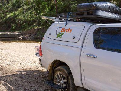 Britz Allrad/4WD Camper Outback Australien, Heck