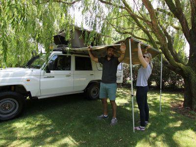 Britz Safari 4WD Rooftop Camper Australien Aufbau