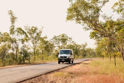 Fahrt im Allrad Camper Scout von Britz Australien