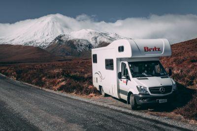 Rast am Strassenrand mit dem Explorer von Britz Neuseeland