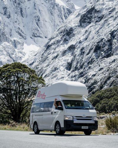 Unterwegs in den Bergen mit dem Hitop von Britz Neuseeland
