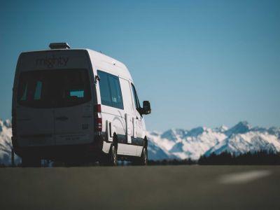 Camper Deuce Plus von Mighty Neuseeland Richtung Mount Cook