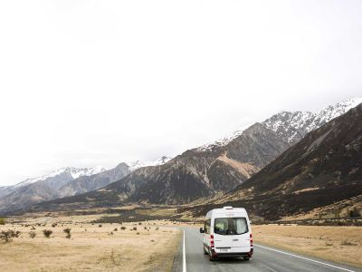 Camper Deuce Mighty Neuseeland Fahrt