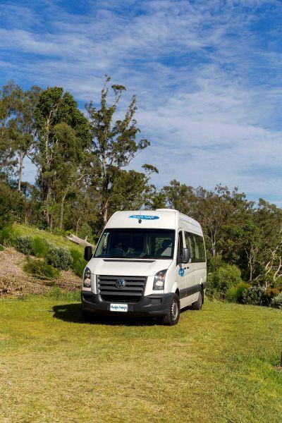 Schrägansicht des 2 Bett Campers ST von Cheapa Campa Australien
