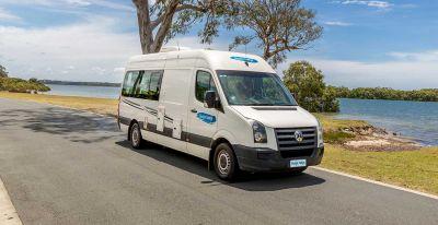 Fahrt im 2 Bett Camper ST von Cheapa Campa Australien