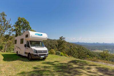 Grandiose Aussicht mit dem 6 Bett Motorhome von Cheapa Campa Australien