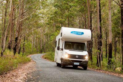 Unterwegs mit dem 6 Bett Motorhome von Cheapa Campa Australien