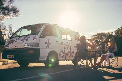 Pause mit dem Camper Drift von Hippie Camper Australien