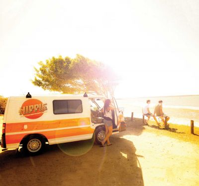 Stopp mit dem Camper Drift von Hippie Camper Australien