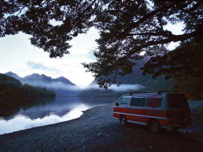 Ruhe und Einsamkeit mit dem Camper Drift von Hippie Neuseeland