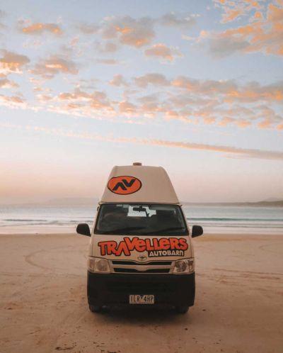 Camper Kuga Travellers Autobarn Australien Frontansicht