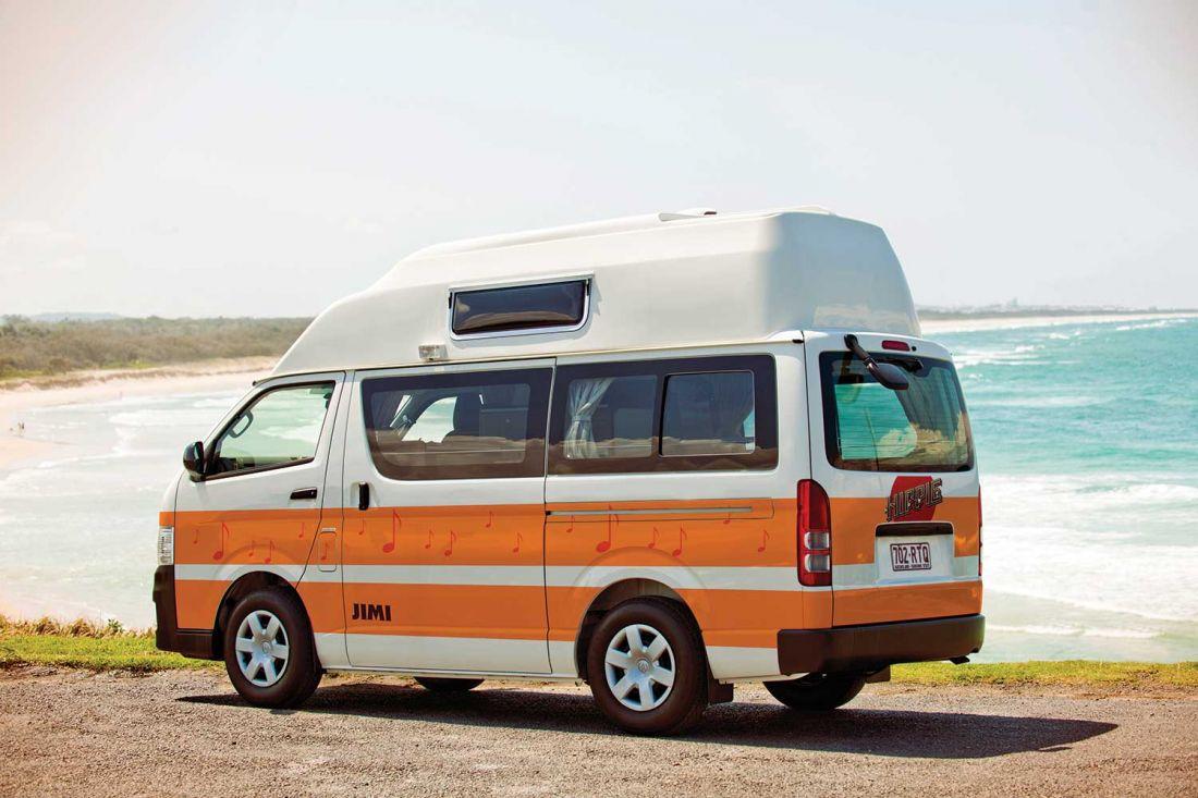 hitop camper mieten von hippie camper in neuseeland bestcamper. Black Bedroom Furniture Sets. Home Design Ideas